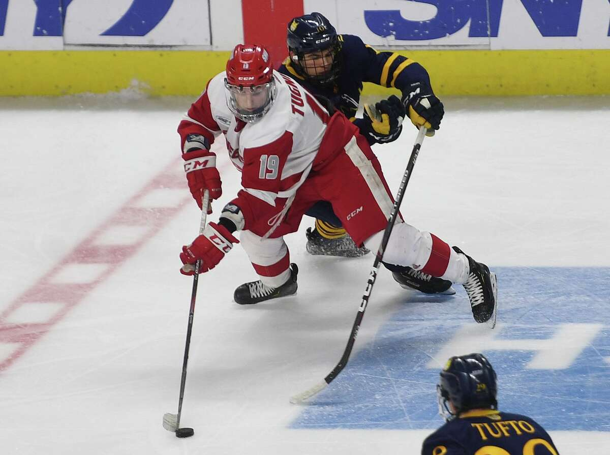 Matt Tugnutt is one of four Sacred Heart players with at least 30 points heading into the AHA quarterfinal series against Robert Morris.