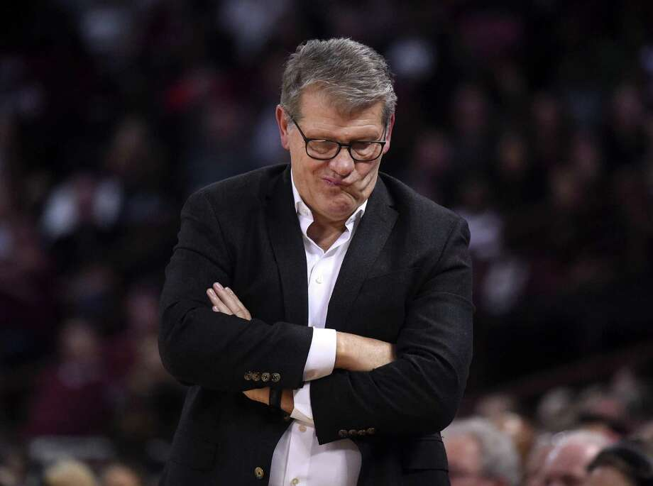UConn Huskies head coach Geno Auriemma was due to speak to members of the Middlesex County Chamber of Commerce Monday, but the event has been canceled amid fear of coronavirus. Photo: Brad Horrigan / TNS / Hartford Courant