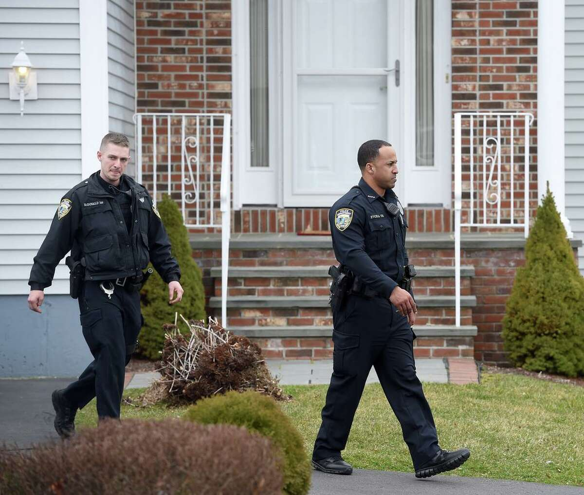 West Haven Police were at the home of former West Haven High School Athletic Director Jon Capone at 326 Benham Hill Road in West Haven removing items on March 11, 2020.