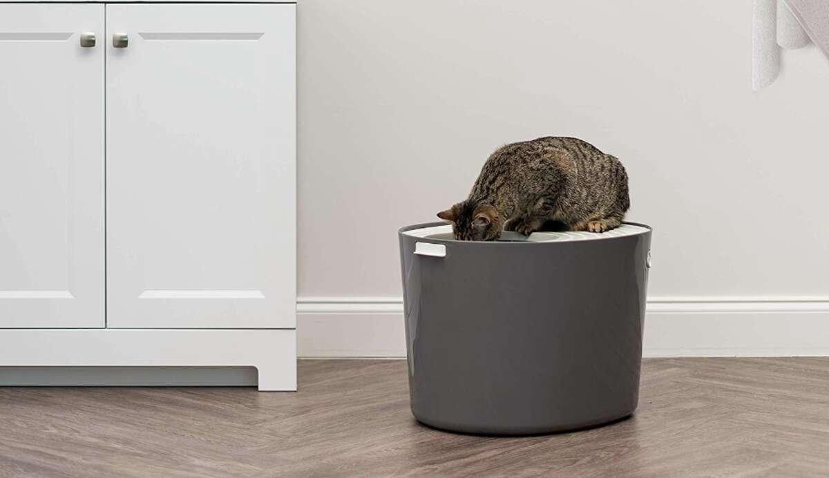 IRIS Top Entry Cat Litter Box, $32.99