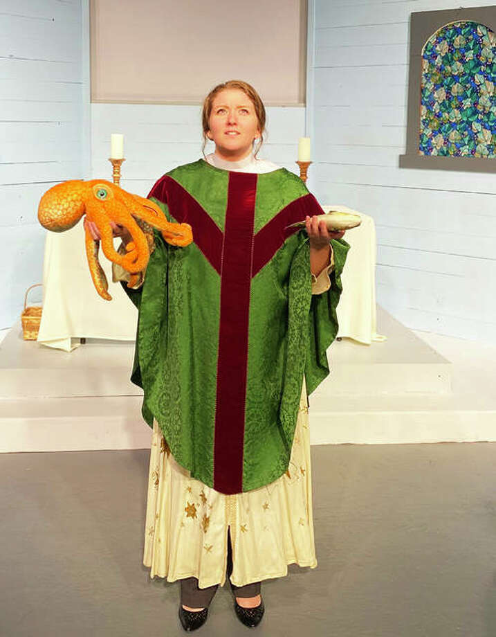 "Lindsey Watters in ""Holy Laughter"" at Alton Little Theater. Photo: Photos By Lee Cox