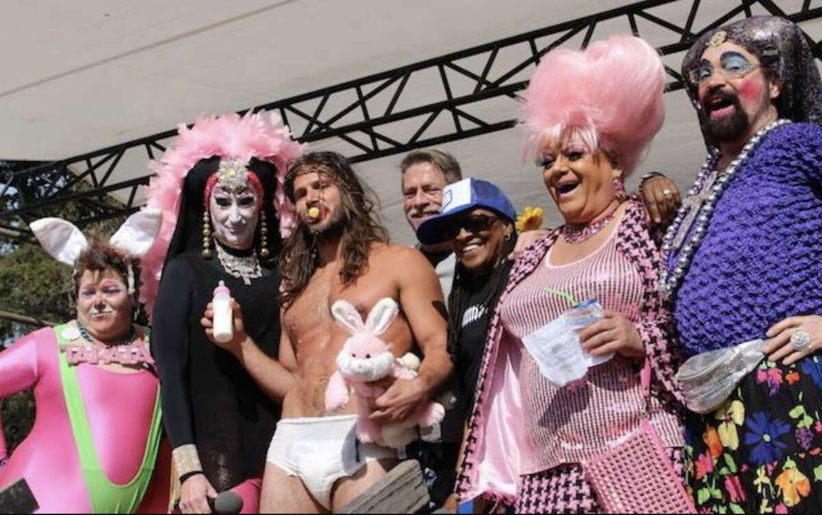 The winning Baby Jesus poses at the annual Easter Sunday Hunky Jesus competition hosted by the Sisters of Perpetual Indulgence in 2015. This year's event was postponed as a result of the threat of coronavirus.
