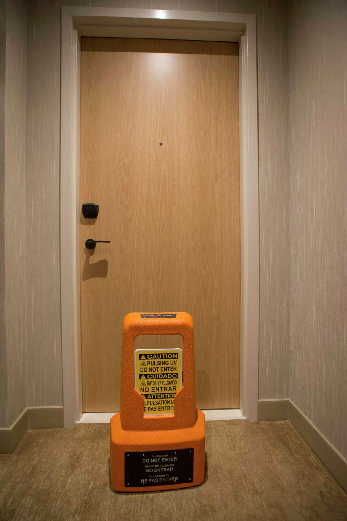 The Westin Houston Medical Center uses robots from a San Antonio-based firm to sanitize and disinfect guestrooms.