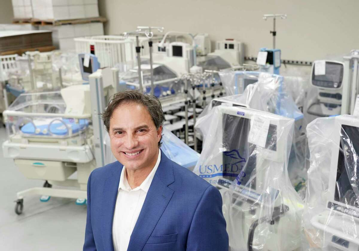 Greg Salario, chief development officer, is shown at US Med-Equip, 7028 Gessner Rd., Tuesday, Feb. 18, 2020, in Houston. US Med-Equip is a major supplier of movable medical devices such as respirators, infusion equipment and neo-natal incubators, to hospitals and other health care facilities across the country.
