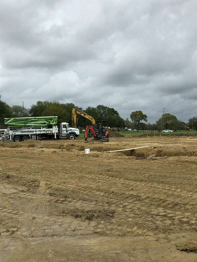 Groundwork has started on the Riverside Pavilion site planned at Simmons Drive in Orange. Photo taken March 2, 2020. Photo: Courtesy Of City Of Orange / Courtesy Of City Of Orange
