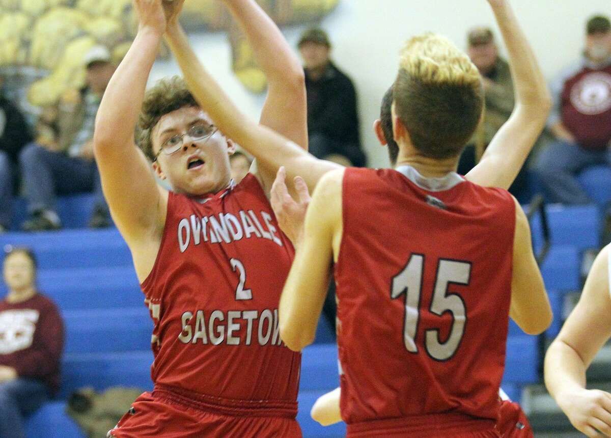 The Mayville boys basketball team topped Owen-Gage, 70-36, in district play at Kinde on Wednesday night.