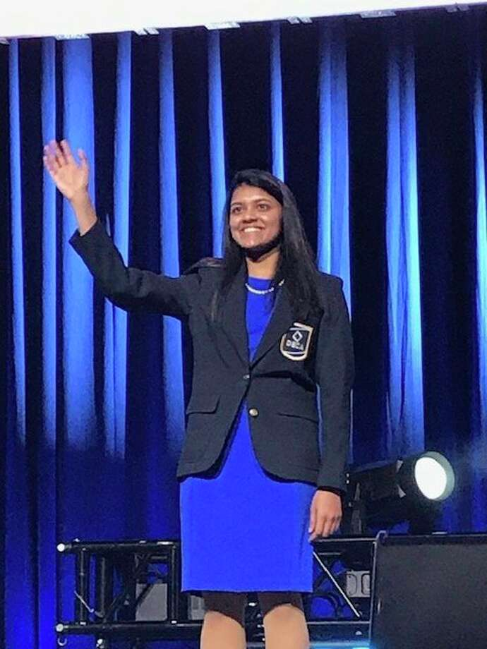 Karnika Chandra received the 2020 DECA Emerging Leader Honor Award. (Photo provided)