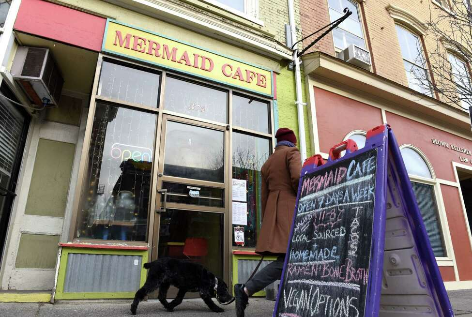 Exterior of Mermaid Cafe on Wednesday, Feb. 12, 2020, in Catskill, N.Y. (Will Waldron/Times Union)