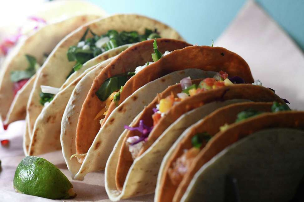 A selection of tacos from Mermaid Cafe on Wednesday, Feb. 12, 2020, in Catskill, N.Y. (Will Waldron/Times Union)