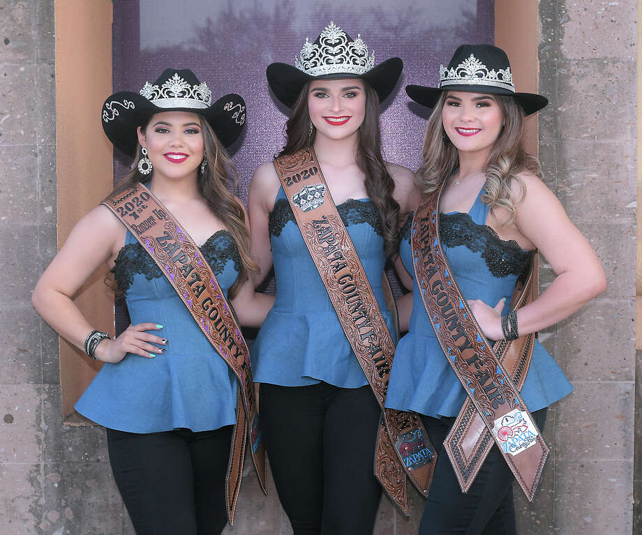 Zapata County Fair Royalty are from left, Rebecka Lopez, 1st Runner Up; Kayla Piña, Zapata County Fair Queen and Eryn Granger, 2nd Runner Up. Photo: Cuate Santos/Laredo Morning Times