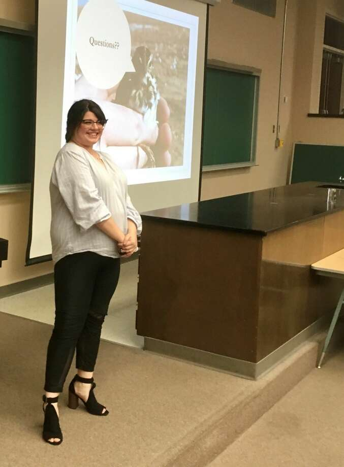 Wayland Student Elizabeth Reinhart presented her research on sex determination of sparrows at the Texas Academy of Sciences meeting in February. She tied with fellow WBU student Sarah Macha for first place presentation within their research section. Photo: Courtesy Photo/WBU