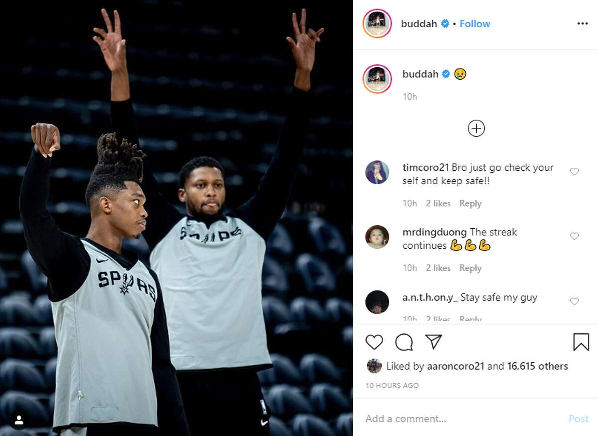 Lonnie Walker captioned this Instagram post with a crying emoji around midnight Thursday.