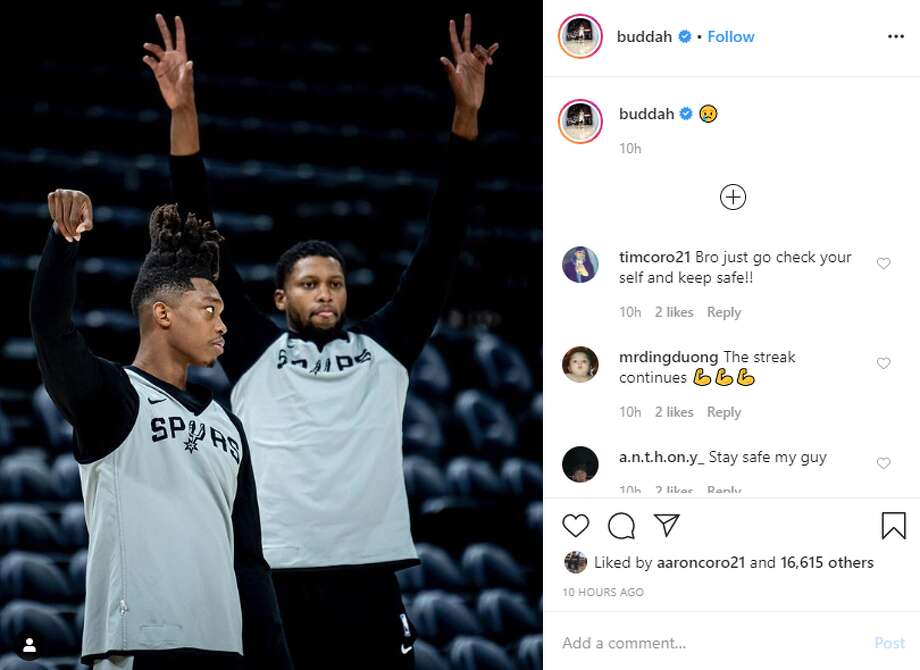 Lonnie Walker captioned this Instagram post with a crying emoji around midnight Thursday. Photo: Twitter Screengrab