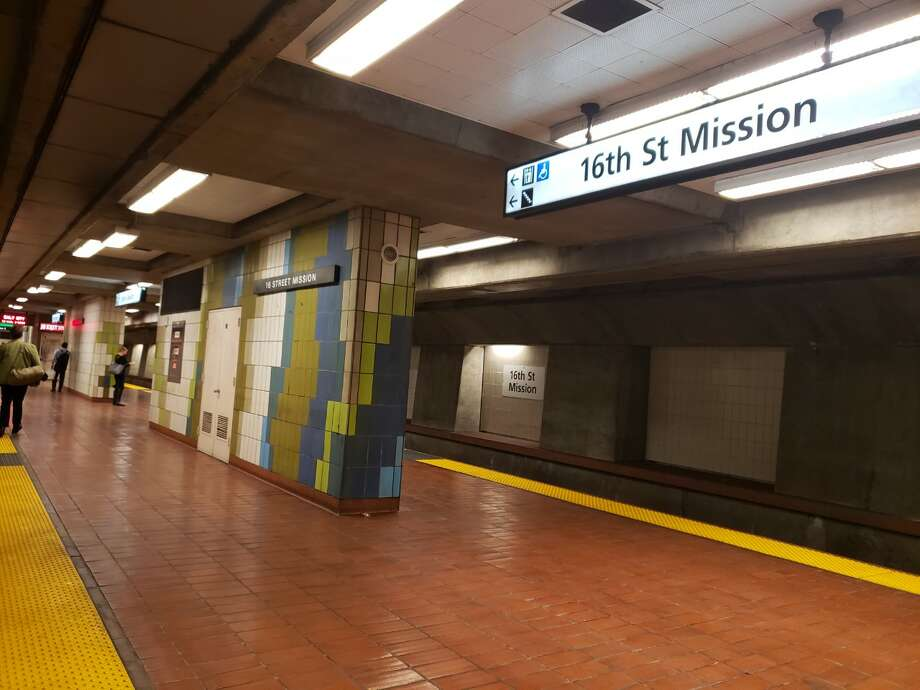 The 16th St. Mission BART station is nearly empty during the morning commute in San Francisco on Thursday, March 12, 2020. Photo: Courtesy Trish Gervasio