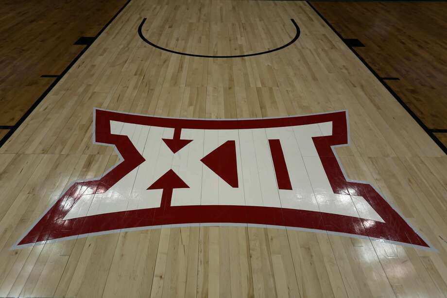 KANSAS CITY, MO - MARCH 14: A view of the Big 12 logo on the court before a quarterfinal Big 12 tournament game between the Iowa State Cyclones and Baylor Bears on March 14, 2019 at Sprint Center in Kansas City, MO. (Photo by Scott Winters/Icon Sportswire via Getty Images) Photo: Icon Sportswire/Icon Sportswire Via Getty Images
