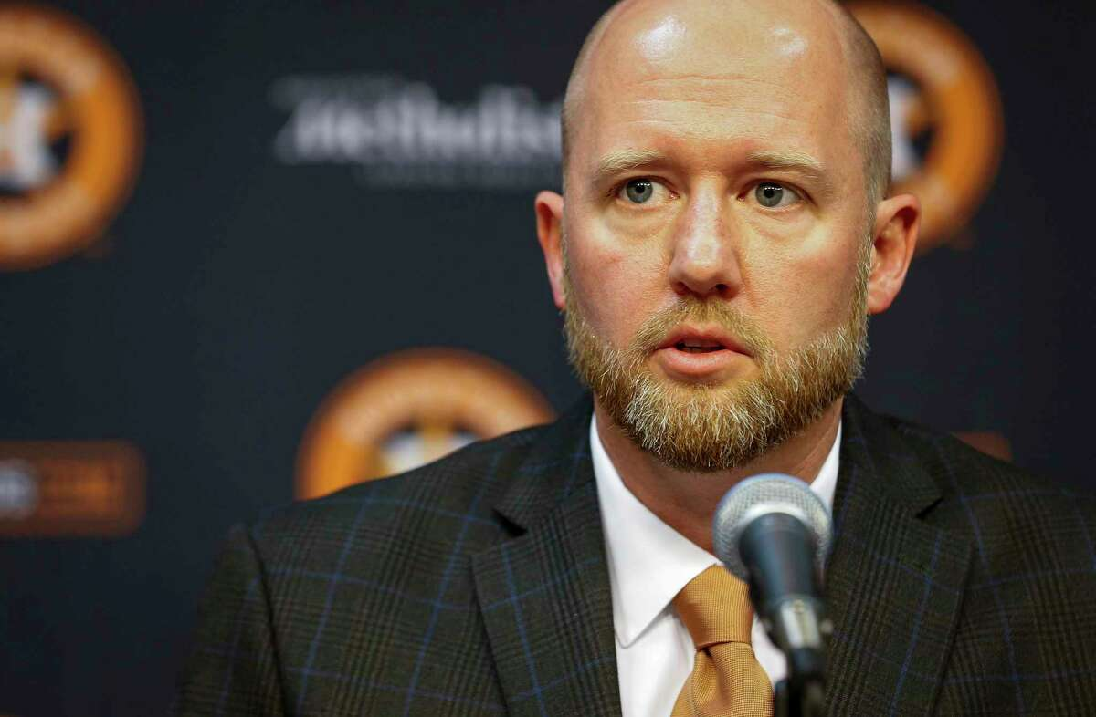 James Click has endured a lot in 55 days as the Astros' new general manager.