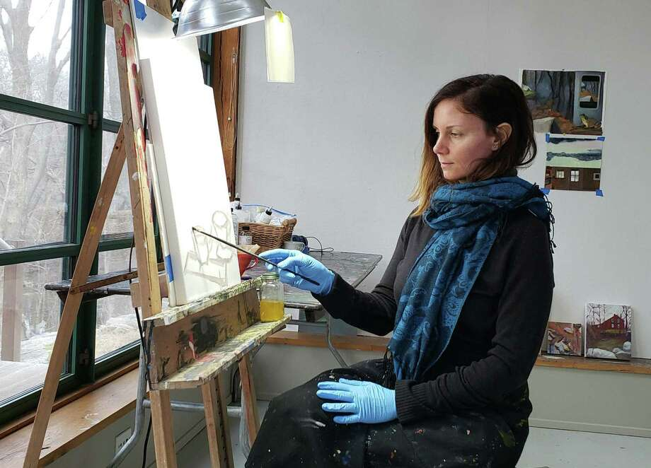Jenny Graham-Hougah, a contemporary realist painter, is Weir Farm's artist-in-residence for the month of March. Photo: Contributed Photo