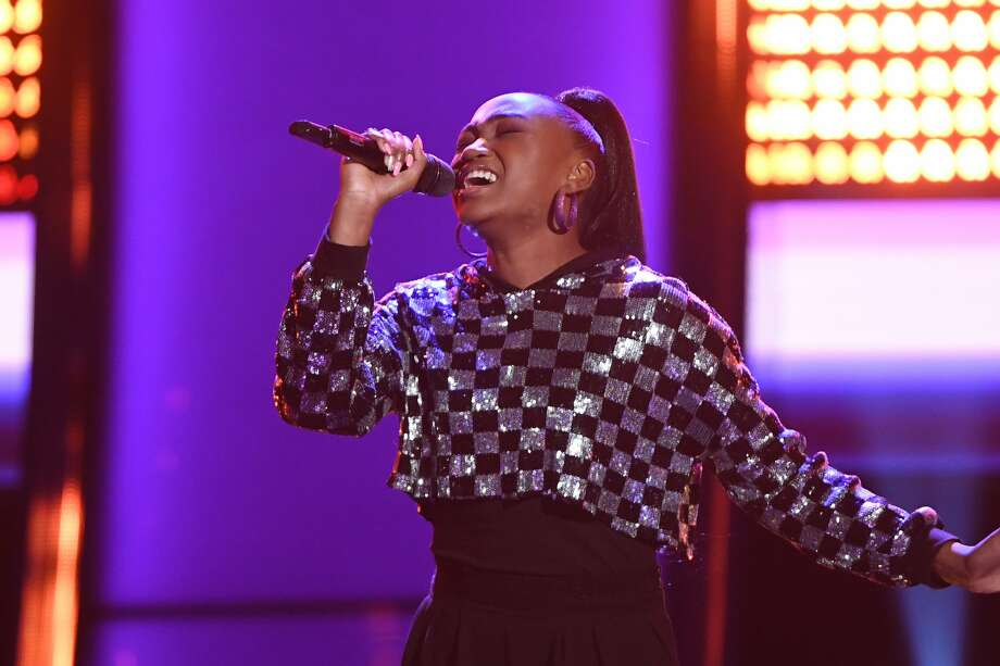 """THE VOICE -- """"Blind Auditions"""" Episode 1804 -- Pictured: Anaya Cheyenne -- (Photo by: Mitchell Haddad/NBC/NBCU Photo Bank via Getty Images) Photo: NBC/NBCU Photo Bank Via Getty Images"""