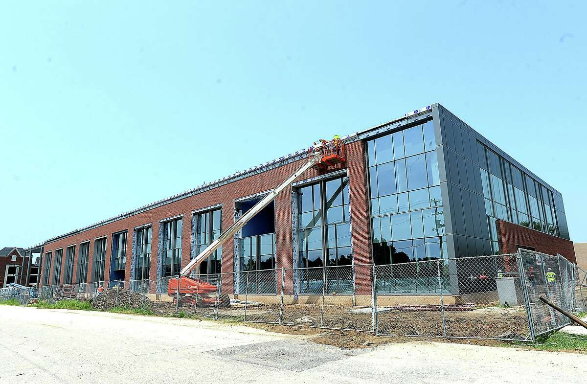 The latest of Lamar University's new campus buildings is the Science and Technology Building, located in the heart of campus. Lamar broke ground on the 83,000-square-foot building May 2, 2017. Construction is expected to be completed by late November with interior furnishing and finishing to follow. The site will be open for classes by the start of the Spring 2019 semester. It is the first of Lamar's building projects to be completely funded by the state and is also the first new entirely academic building to be added to the campus in 4 decades. Wednesday, August 22, 2018 Kim Brent/The Enterprise