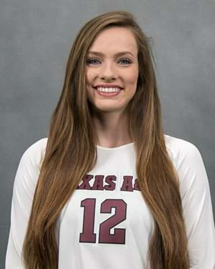 Texas A&M volleyball player Mallory Talbert. Photo: Texas A & M Athletics