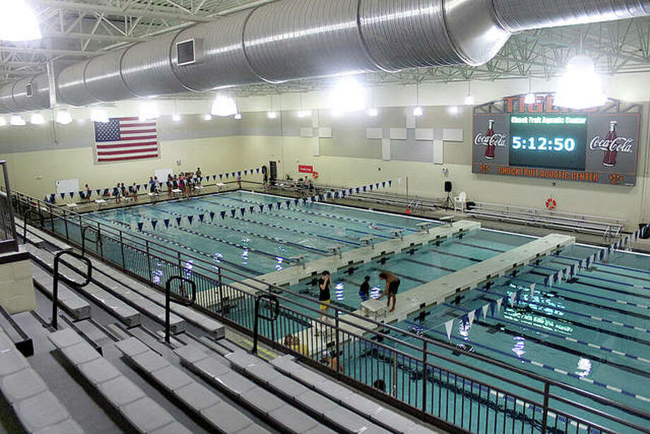 The Chuck Fruit Aquatic Center at Edwardsville High School was to be the scene of the YMCA Heartland Area Swim Championships March 20-22, but on Thursday, officials elected to cancel the meet because of the threat from the Coronavirus.