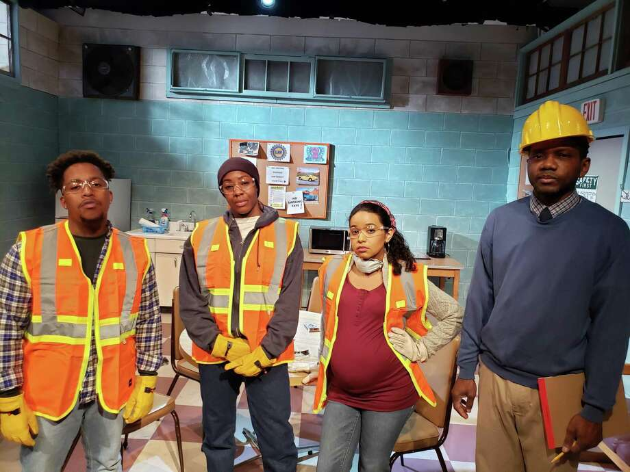 "From left, Stephen King, Tamika Pettway, Betzabeth Castro and Jason Hall Collective Consciousness Theatre's ""Skeleton Crew."" Photo: Dexter Singleton / Contributed Photo"