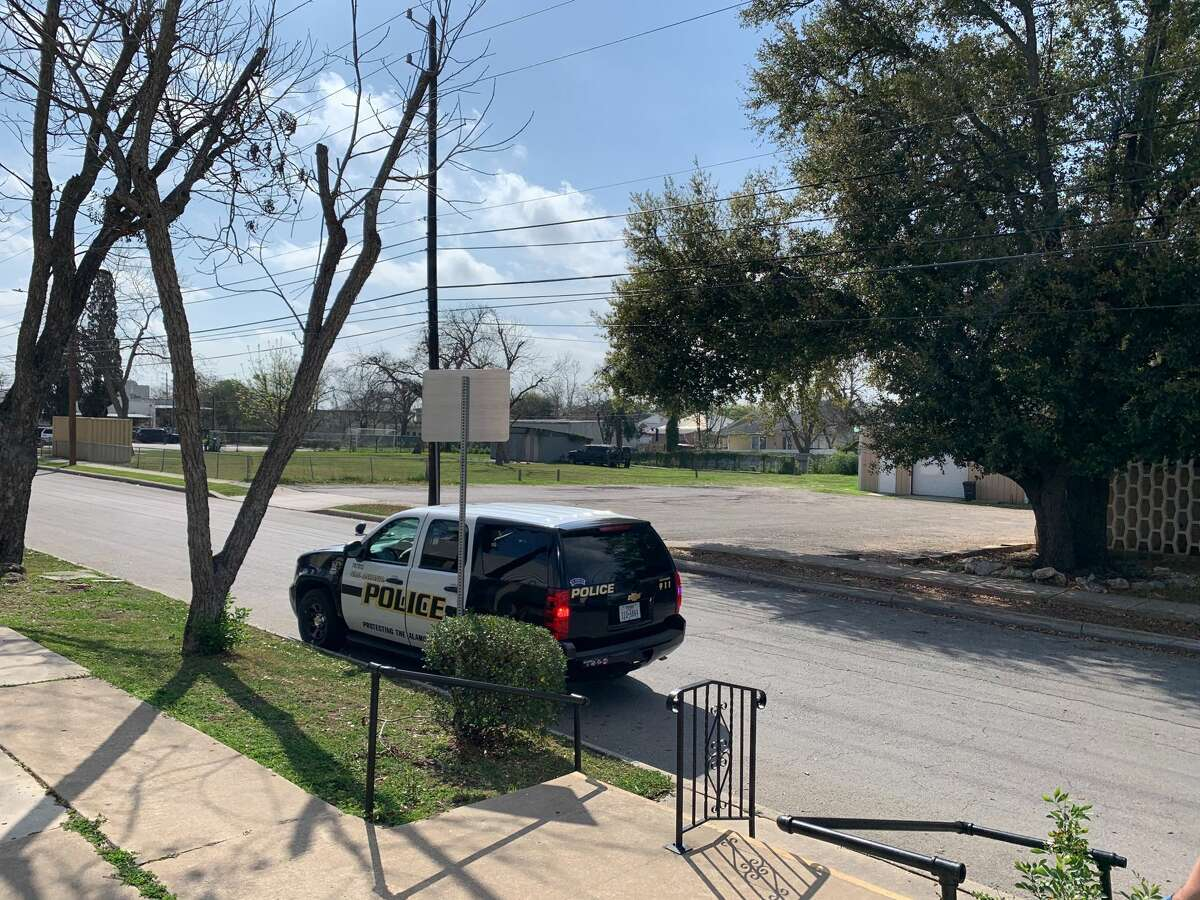 Police are searching for a man who shot his wife three times Thursday on the Southwest Side, according to the San Antonio Police Department.
