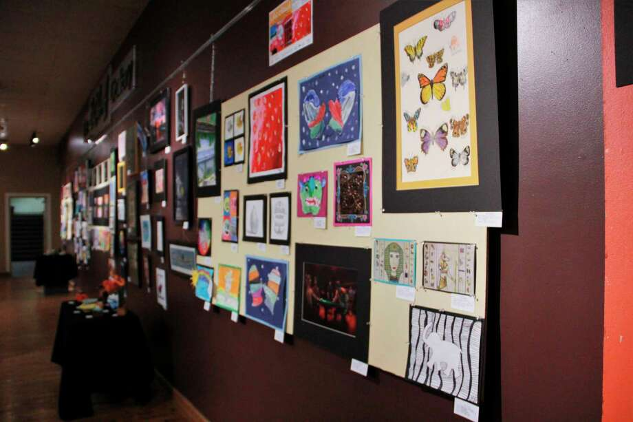 According to Artworks Executive Director Lynne Scheible, Art Attack! is an exhibit which features art created by students K-12. (Pioneer photo/Alicia Jaimes)