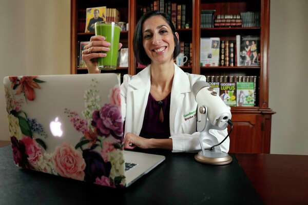Author Dr. Brooke Goldner at her home office Wednesday, Feb. 12, 2020 in Spring, TX.