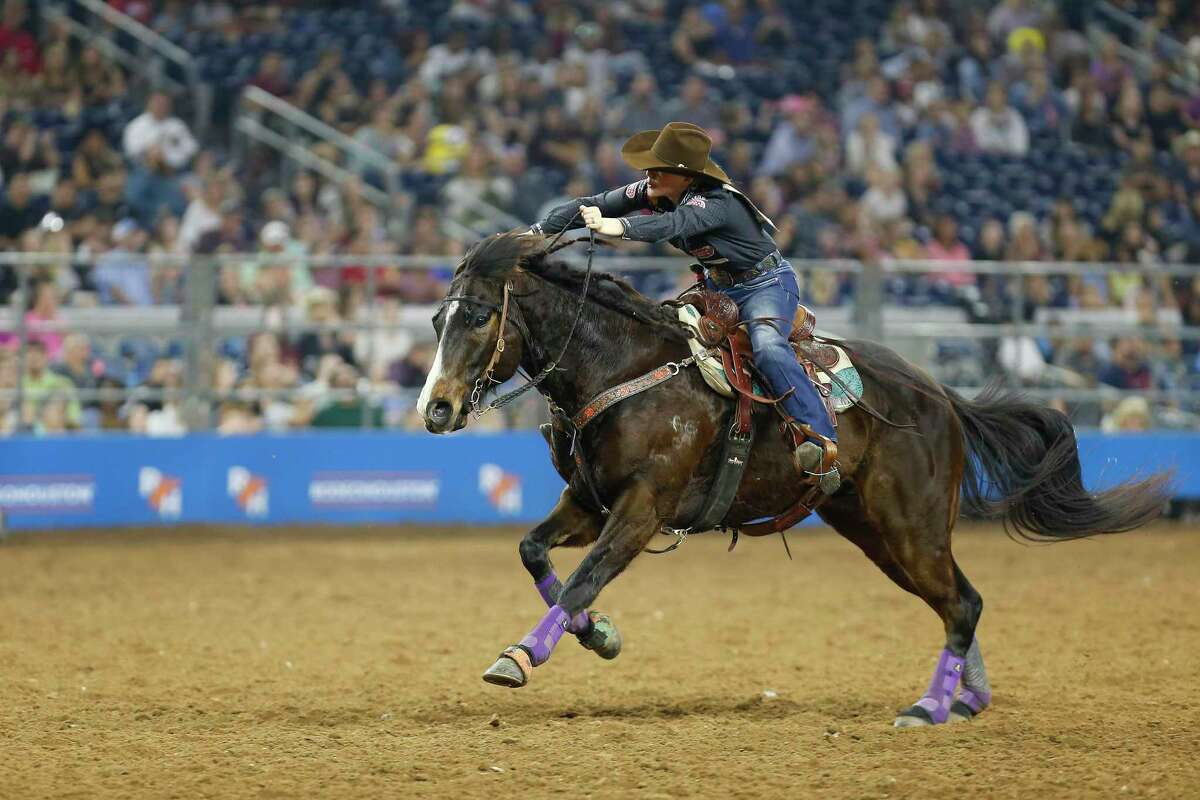 Jackie Ganter, shown in the 2018 rodeo, missed out on a chance at $50,000 when this year's event was canceled on Wednesday because of the coronavirus.