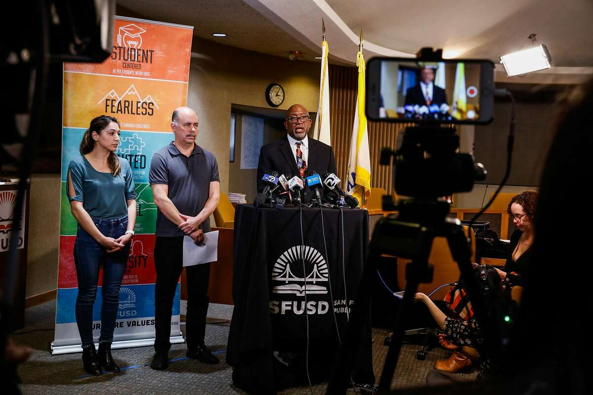 Superintendent of San Francisco Unified Schools Dr. Vincent Matthews announced that all public schools throughout San Francisco would be closing for three weeks as a preventative measure to protect students and families from the coronavirus on Thursday, March 12, 2020 in San Francisco, California.