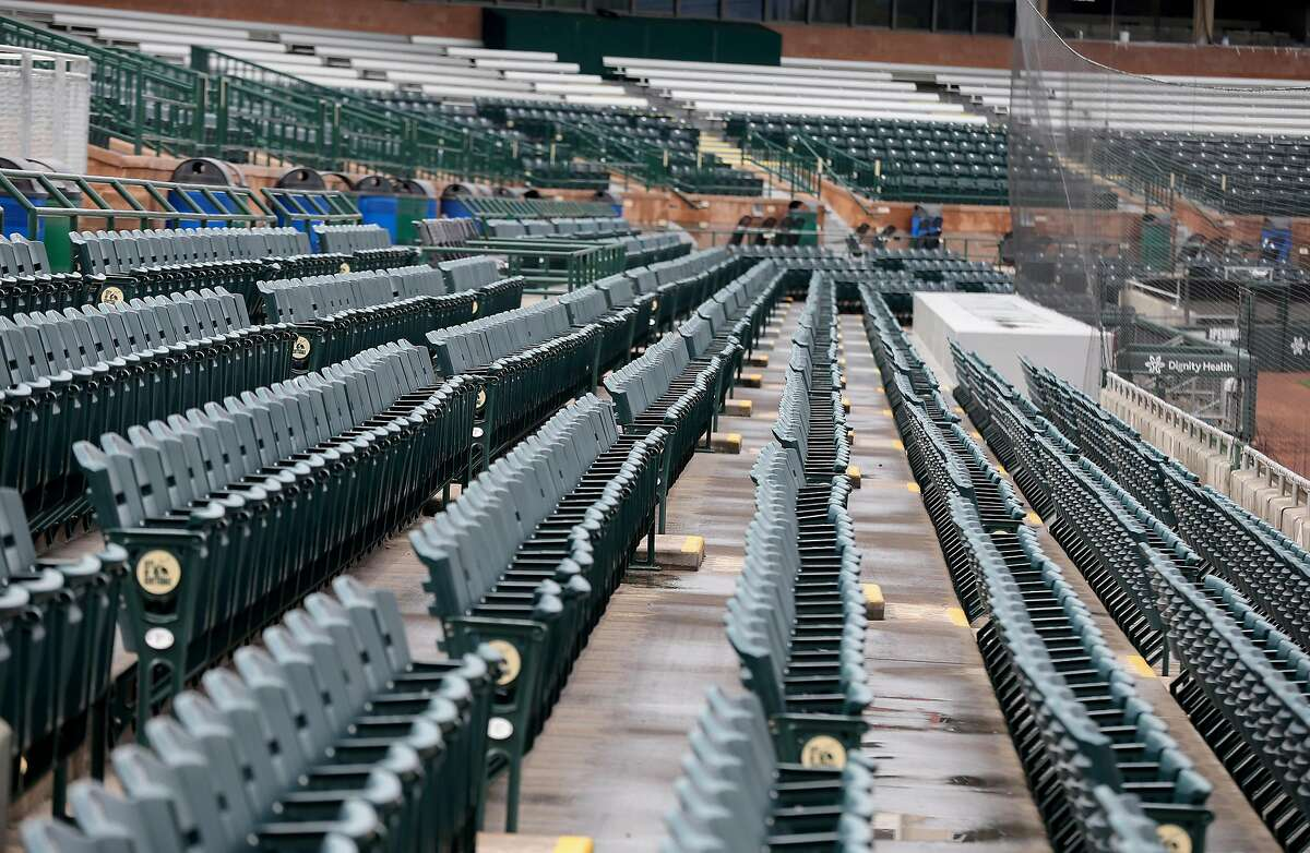 Scottsdale Stadium sits empty after it was announced that Spring Training play has been suspended Thursday, March 12, 2020, Scottsdale, Arizona.