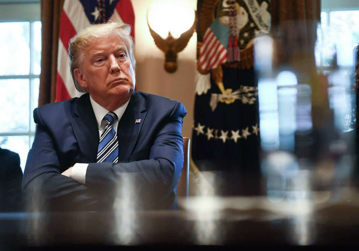 President Donald Trump speaks during a meeting with banking leaders to discuss how the financial services industry can meet the needs of customers affected by COVID-19 at the White House in Washington, DC on March 11, 2020.