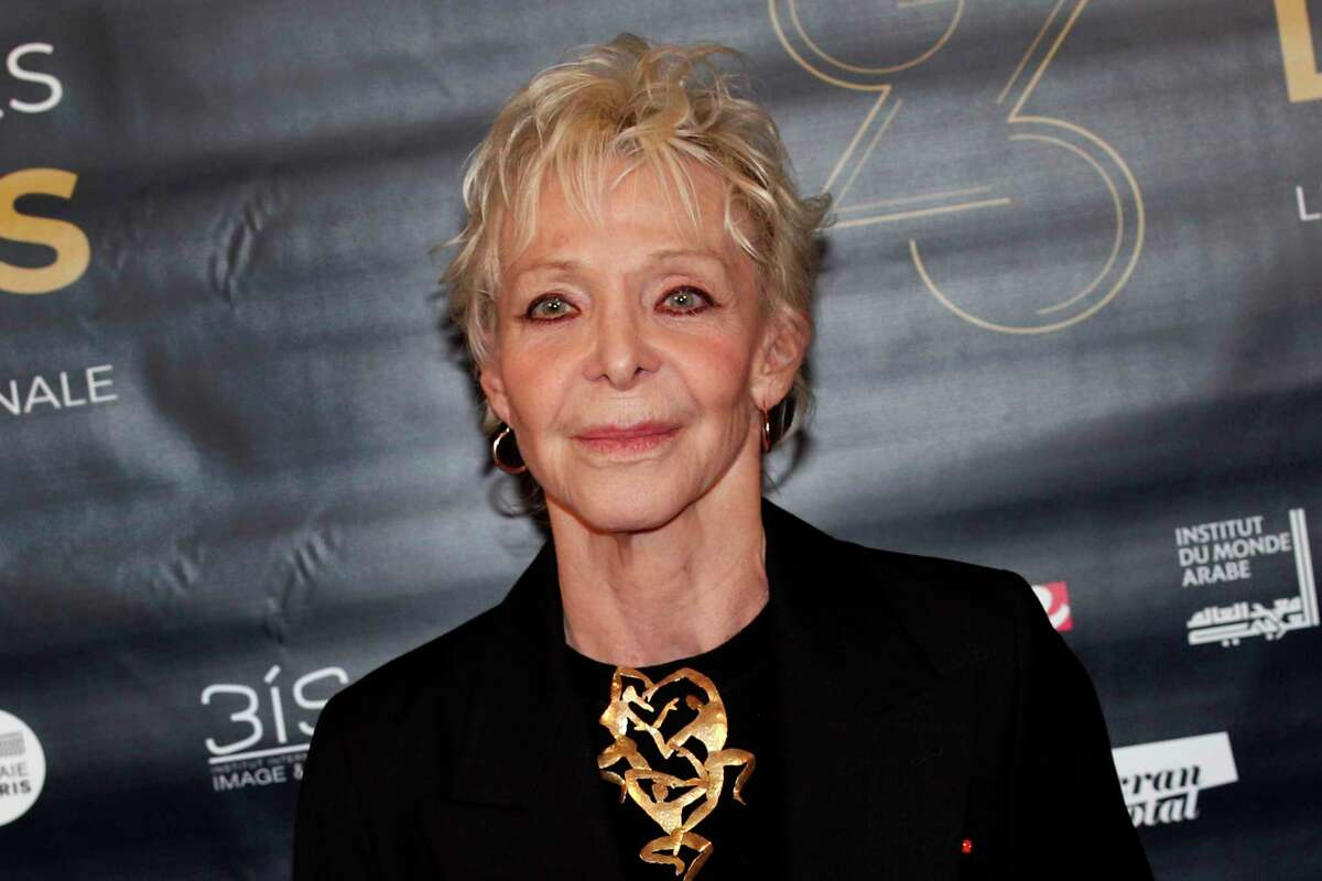 FILE - In this Feb.5, 2018 file photo, Tonie Marshall poses during a photocall prior to the 23rd Lumieres awards ceremony in Paris. French-American filmmaker and actress Tonie Marshall, who remained the only female director to ever win a French Cesar award, has died. She was 68. (AP Photo/Francois Mori, File)