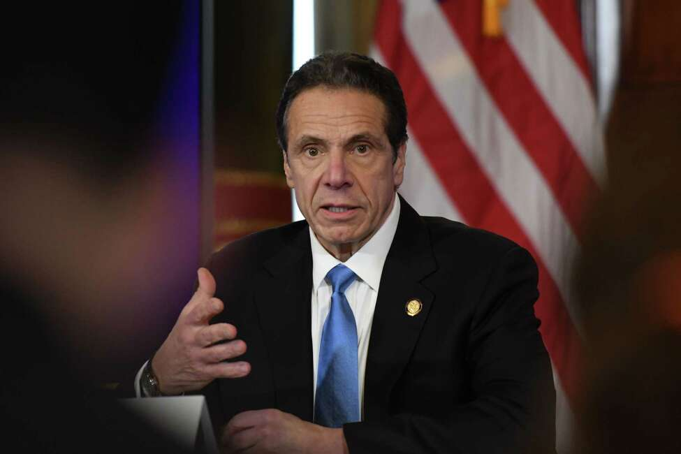 Gov. Andrew Cuomo says an 82-year-old New York City woman is the first to die in the state after contracting coronavirus. (Will Waldron/Times Union)