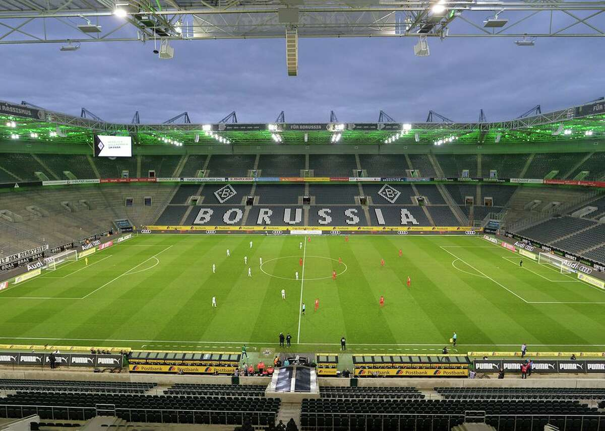 Here are two German soccer teams playing in front of an empty stadium near the Dutch border on Feb. 9, 2020.