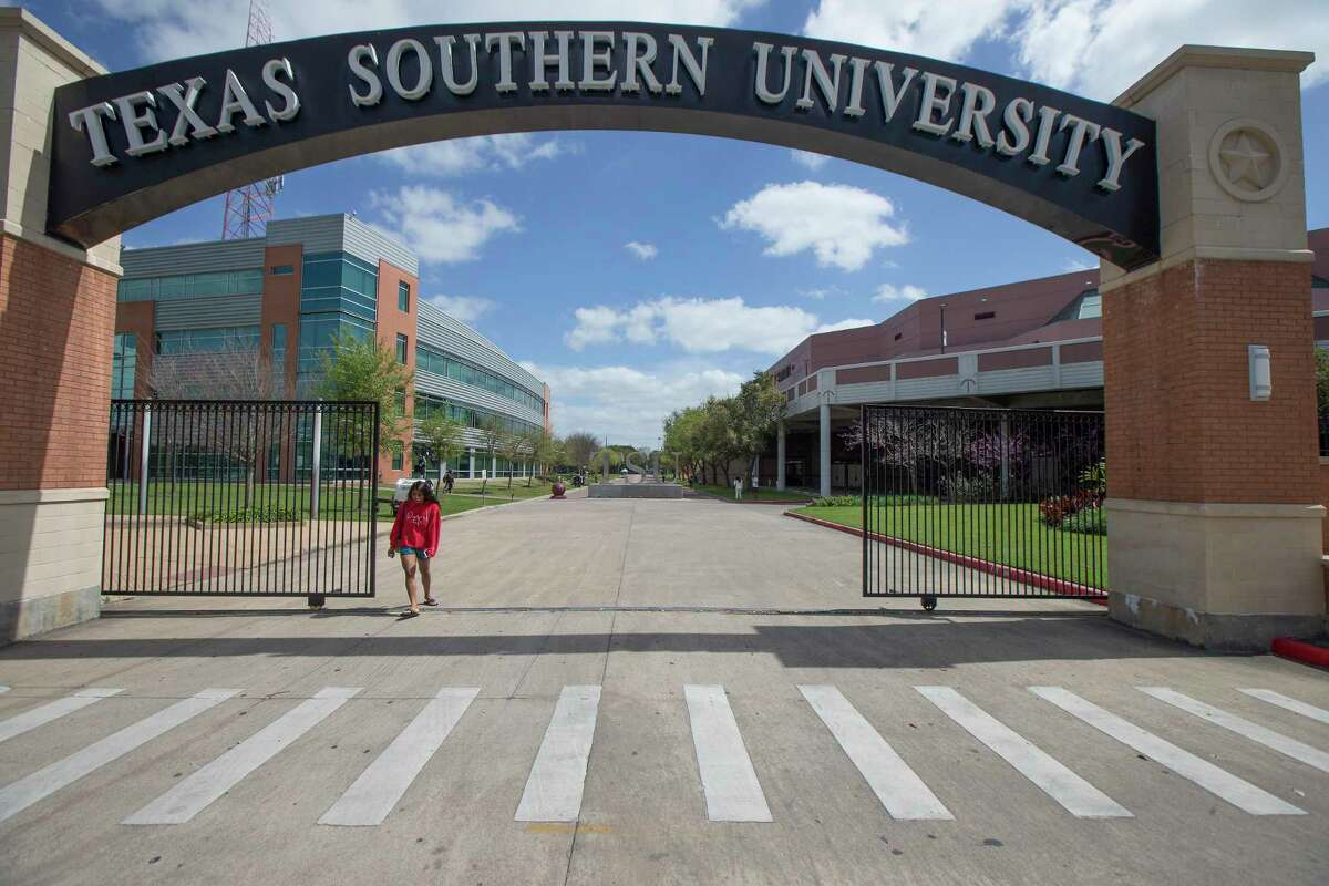 The campus of Texas Southern University seemed to have less people on the grounds Thursday, March 12, 2020, in Houston.