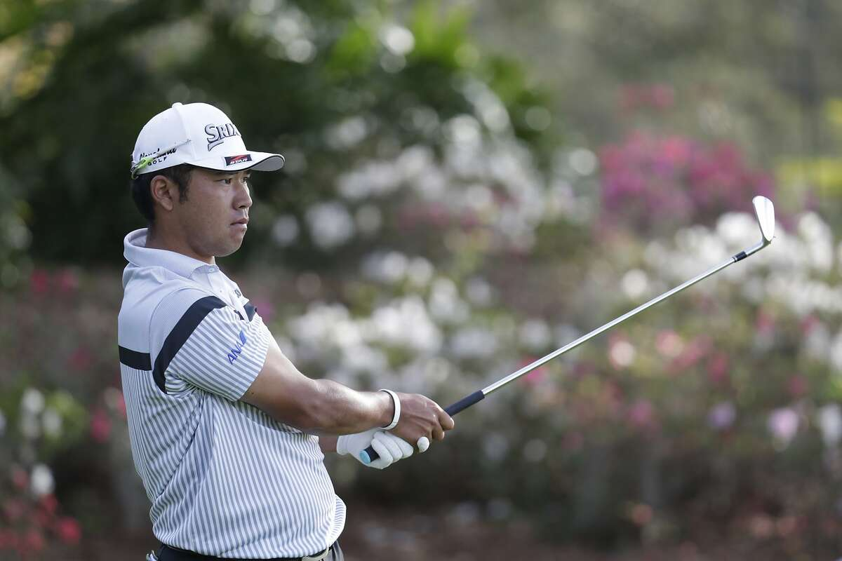 Hideki Matsuyama of Japan, follows his shot from the 13th tee, during the first round of The Players Championship golf tournament Thursday, March 12, 2020 in Ponte Vedra Beach, Fla. (AP Photo/Lynne Sladky)