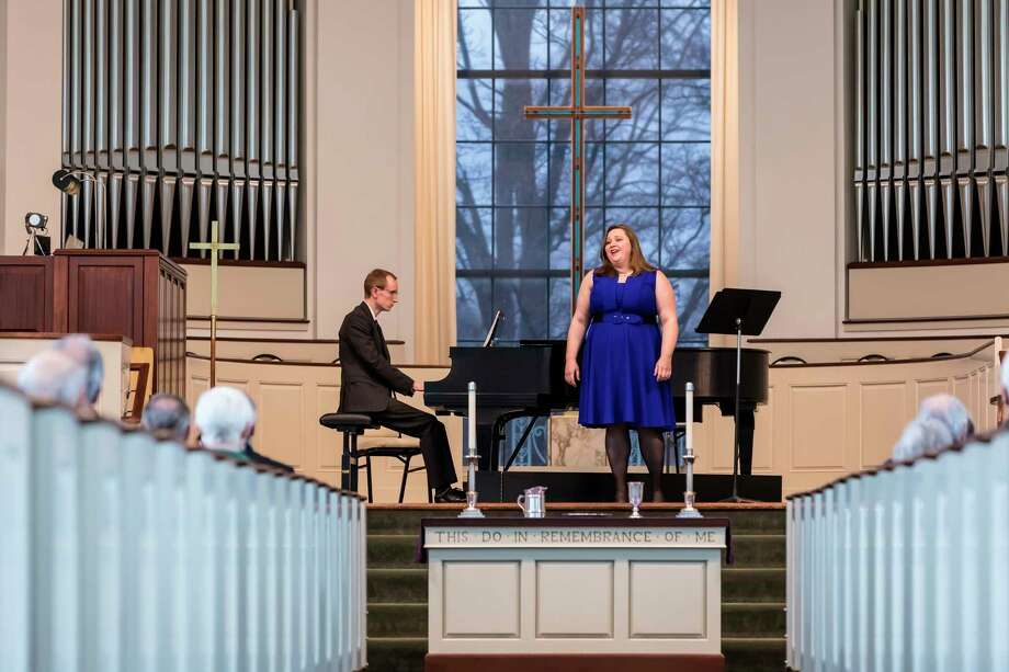 Husband and wife team Collin and Erin Whitfield presented a delightful concert on Friday, March 6 at Memorial Presbyterian Church. (Photo provided/William C. Lauderbach)