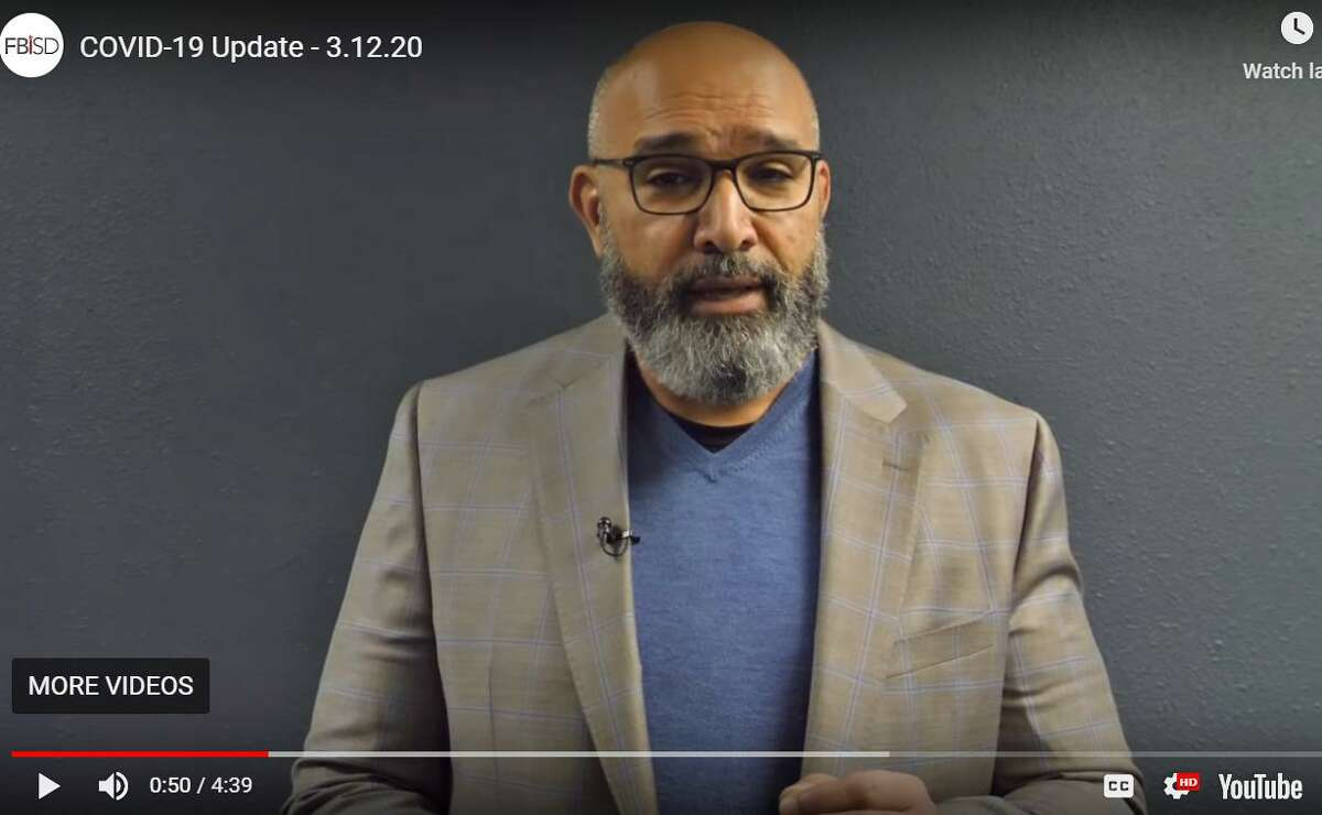 Fort Bend ISD superintendent Charles Dupre announced classes were beihg canceled following spring break for two weeks via a YouTube video posted to the district website Thursday, March 12.