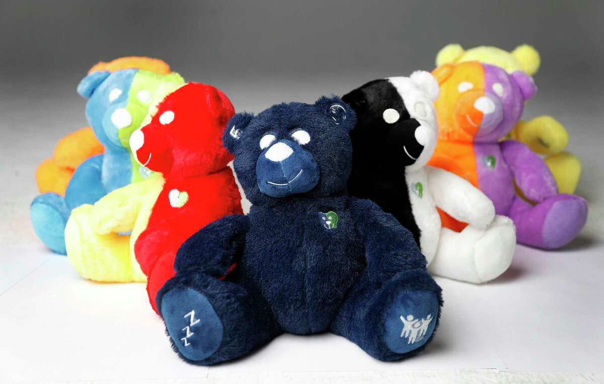 Each Cubby Love Bear, including the special-needs bear, front, serves a different function.