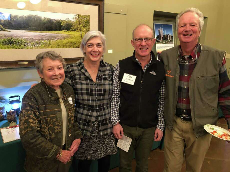 From left, Carleen Kunkel, Mary Hogue, Guy Gleysteen and Milan Bull at the Audubon event. Photo: Contributed Photo
