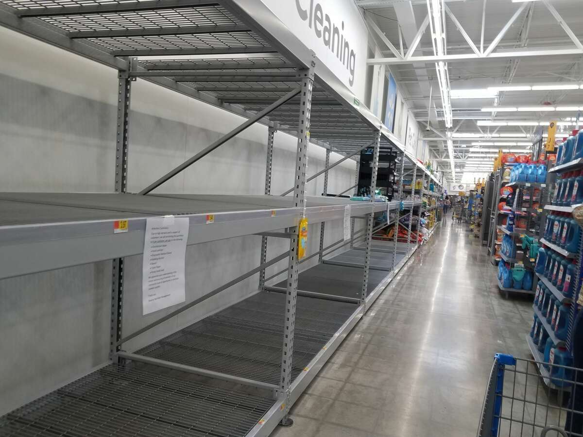 A mySA.com reader sent in a photo of the shelves at the Walmart in Boerne on March 12.