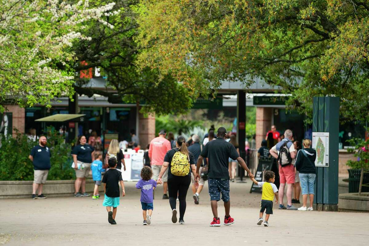 Despite the spread of Covid-19 in the Houston area, many public places -- including the Houston Zoo -- remained crowded on Friday.