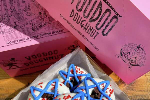 voodoo Doughnut on Washington will give a free Rodeo Doughnut to anyone with a Houston Livestock Show and Rodeo ticket for 24 hours beginning 5 a.m. on March 15.