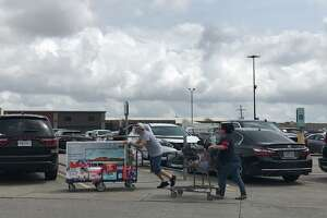 People stock up at Southeast Texas stores Friday, March 13, 2019. Photo: Kim Brent
