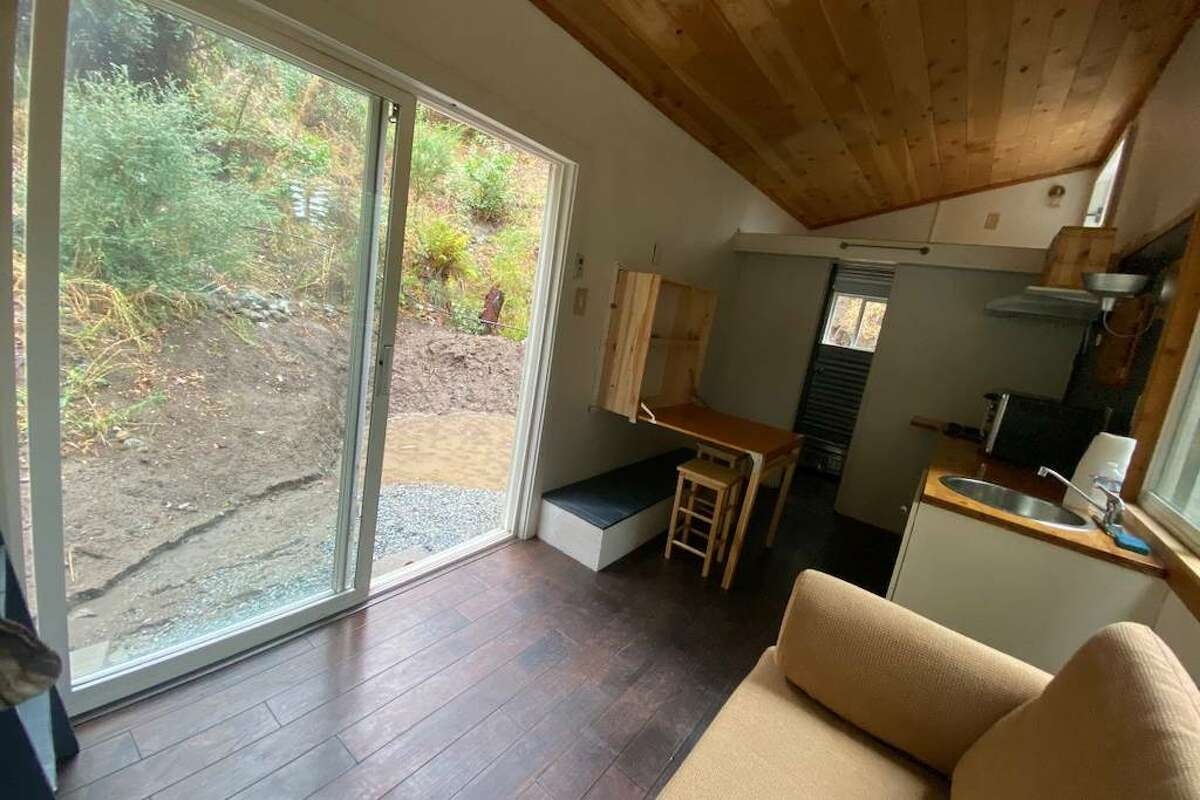 This tiny home in the Santa Cruz Mountains is available for rent.