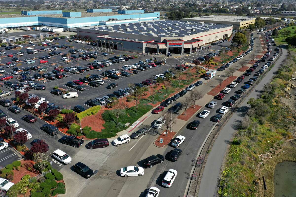 KCBS reported earlier backup from the parking lot of the Costco in Richmond was affecting traffic on Interstate 80.