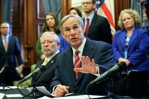 Gov. Greg Abbott speaks at the Texas Capitol concerning the latest developments statewide concerning the coronavirus pandemic.