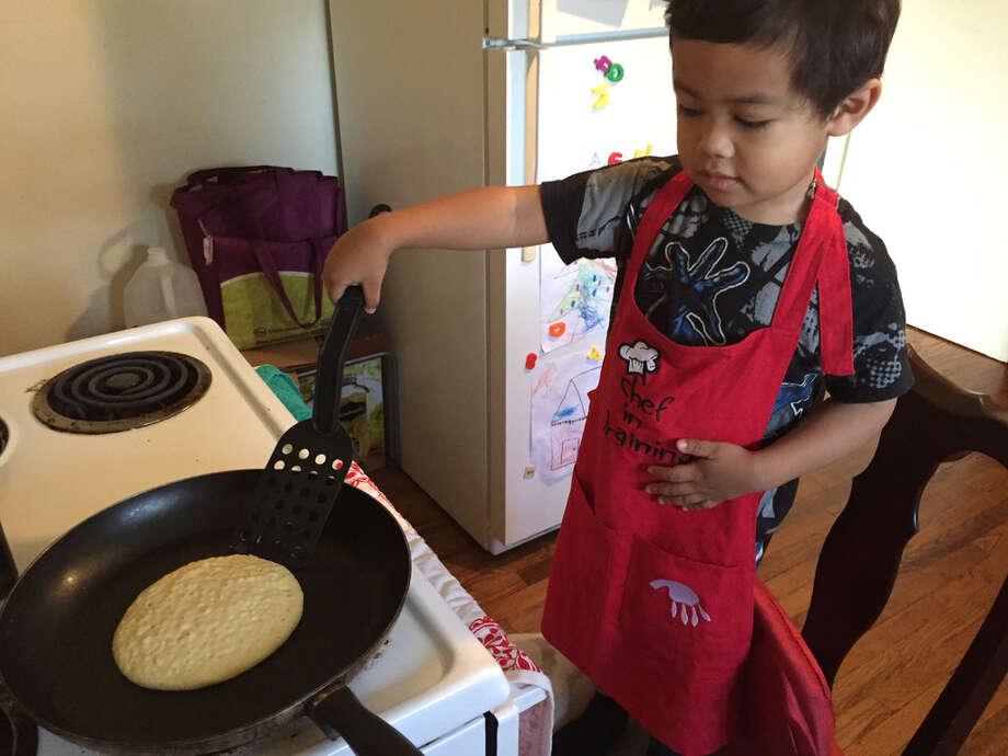 Pancakes are also a good option for kids. Photo: Joey Guerra, Frida Villalobos